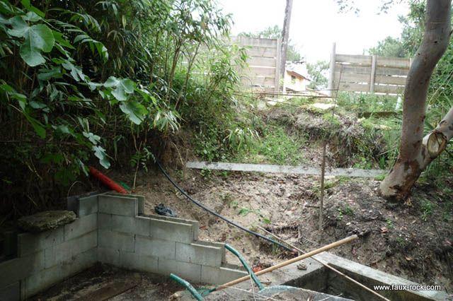Faux Rocher Pour Bassin Aquatique 1 Construction Du Bassin Bassin Koi Faux Rocher Et Mur V G Tal
