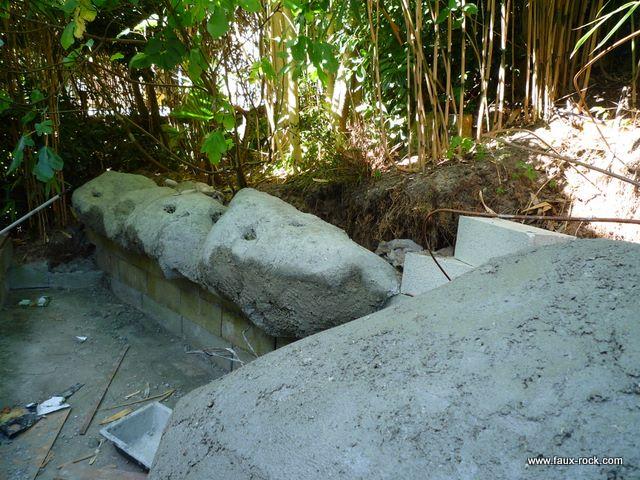 Etape 3 mur v g tal recouvrement de la structure avec for Recouvrement beton exterieur